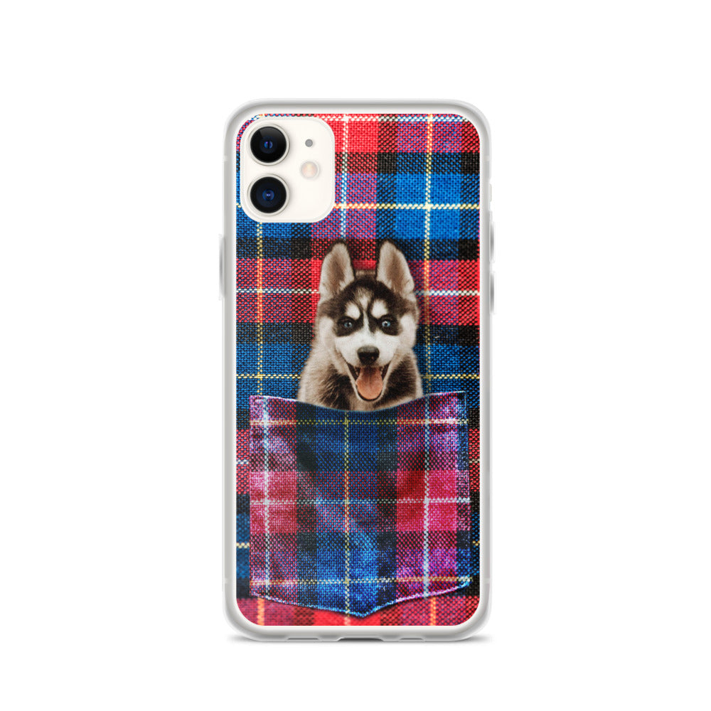 Red Blue Plaid  - Custom Pet iPhone Case