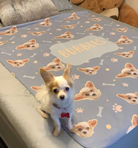 Paws and Bones - Custom Sherpa Fleece Blanket