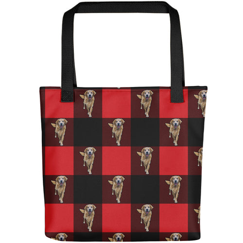 Red Plaid - Custom Pet Tote