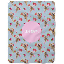 Load image into Gallery viewer, Roses - Custom Sherpa Fleece Blanket