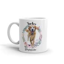 "Load image into Gallery viewer, ""Flower Wreath"" Custom Pet Mug"