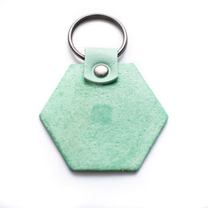 Key-ring - Hexagon - Pale Green