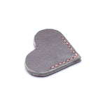 Corner Bookmark - Heart - Grey