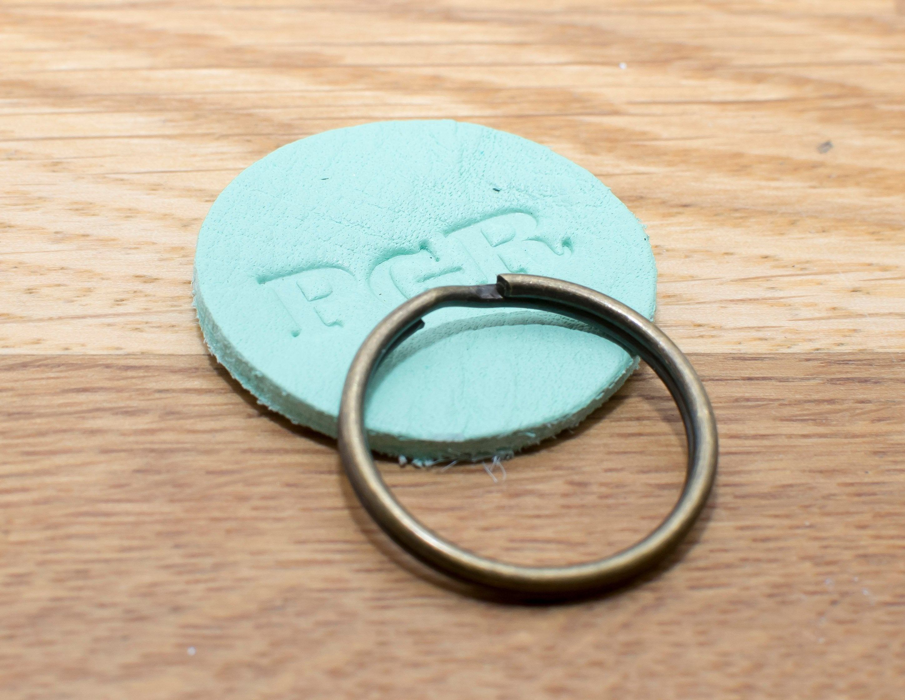 Keyring - Double-sided - Pale Green
