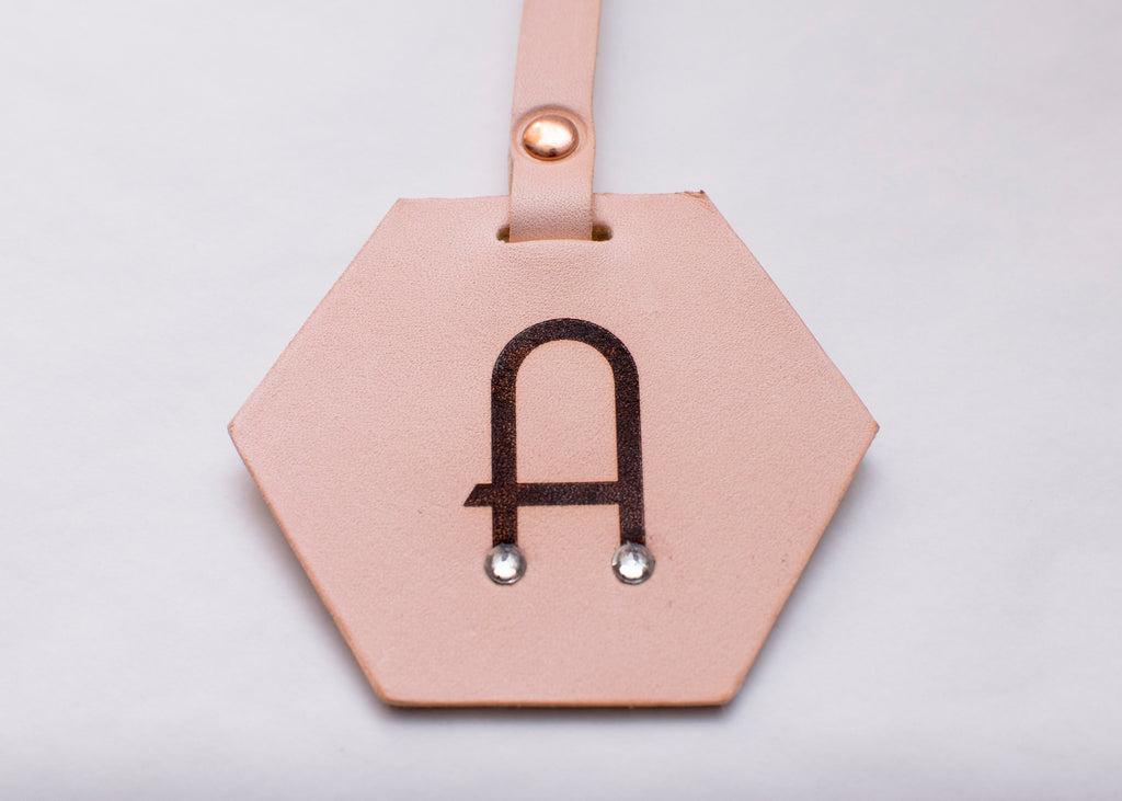 Luggage Tag - Hexagon - Monogrammed - Any Colour