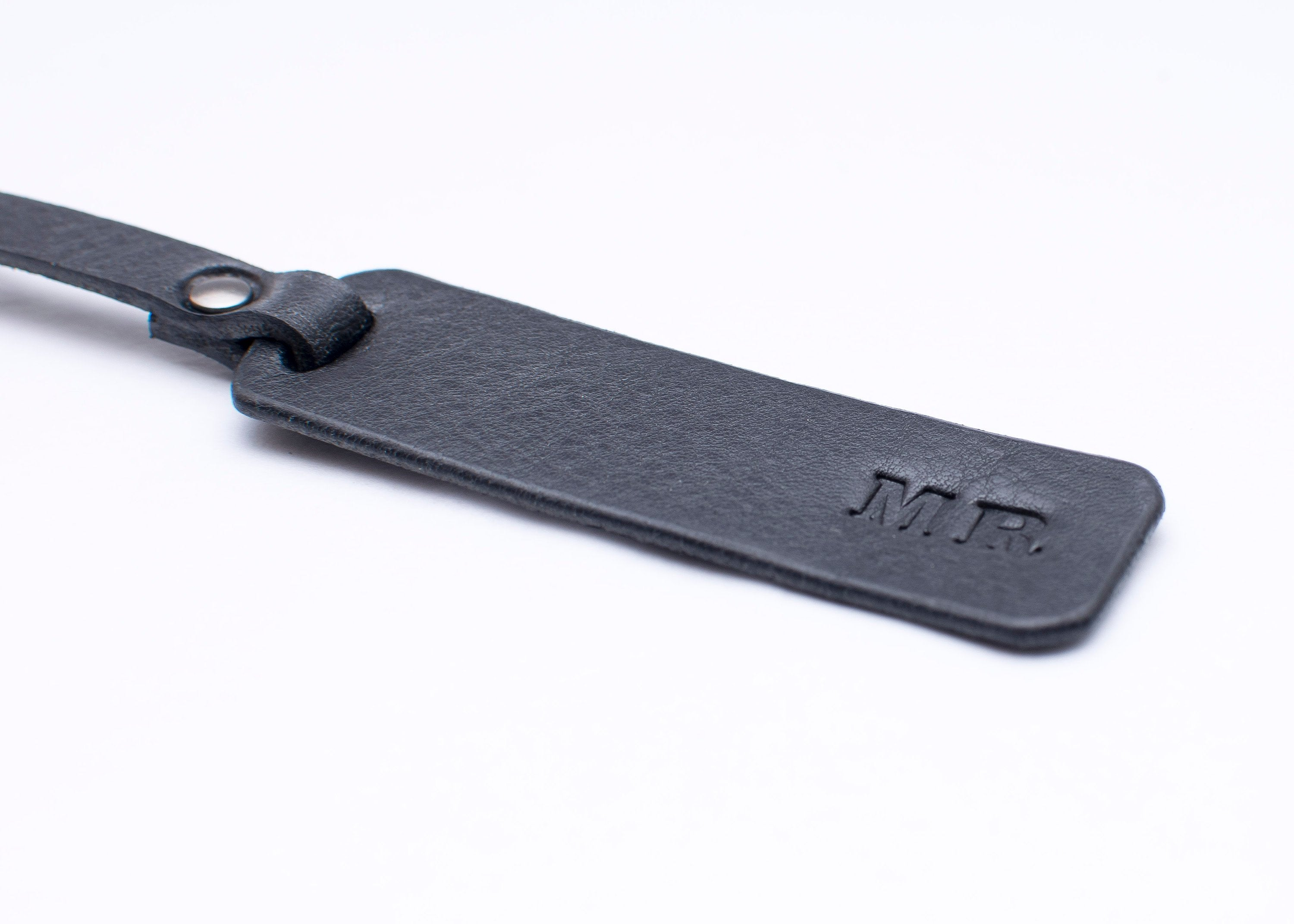 Luggage Tag - Rectangle - Black