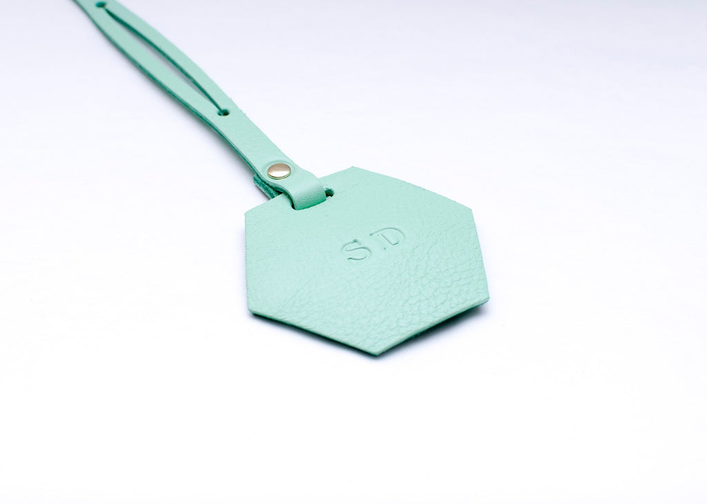 Luggage Tag - Hexagon - Pale Green