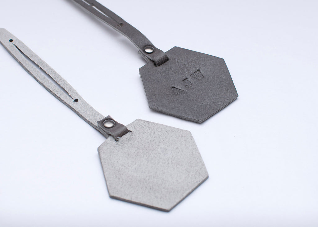 Luggage Tag - Hexagon - Grey