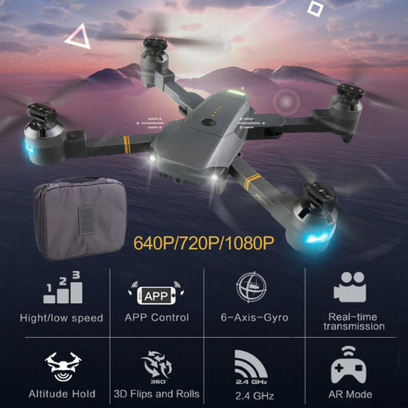 Lensoul XT-1 Quadcopter 2.4GHz 6 Axis Gyro 1080P 120 Degree Camera LED Lighting