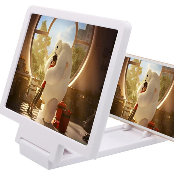 A Folding Design Mobile Phone Screen Magnifier 3D Video Magnifying