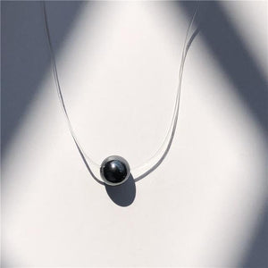 Transparent Fishing Line Necklace