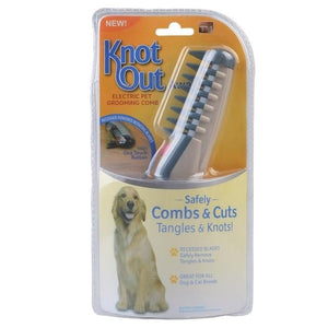 Electric Dog Brush Professional Puppy Dog Cat Hair Trimmer Slicker Gilling Brush