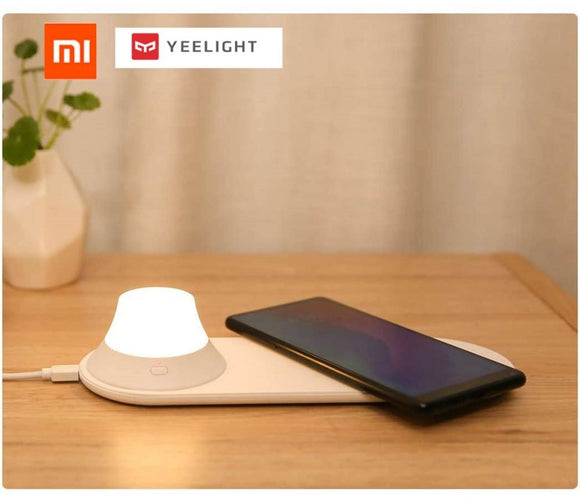 Wireless Charger with LED Night Light Magnetic Attraction Fast ChargingiPhones Samsung Huawei Xiaomi