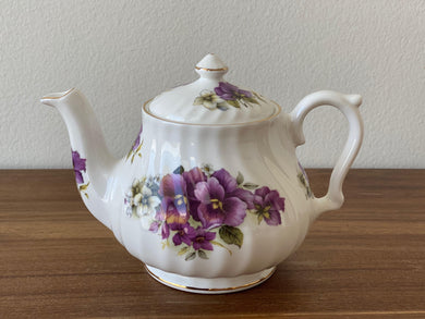 Vintage Royal Patrician Teapot by Dynasty (Violet)