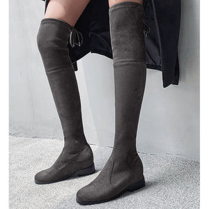 ELEHOT Over The Knee Boots Suede Fall Woman