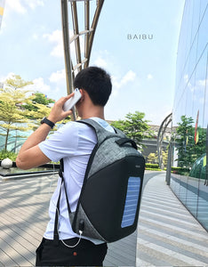 Solar Powered Anti-Theft Backpack!!