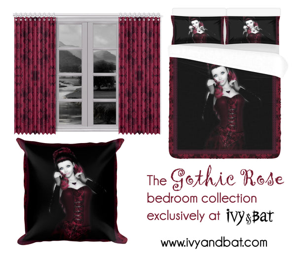 The Gothic Rose Damask Bedroom Set by Ivy and Bat
