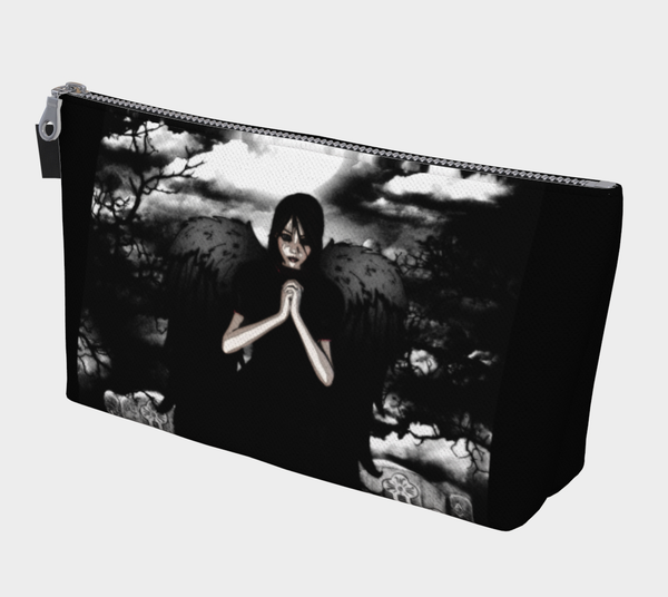 Dark Angel Goth Art Makeup Bag