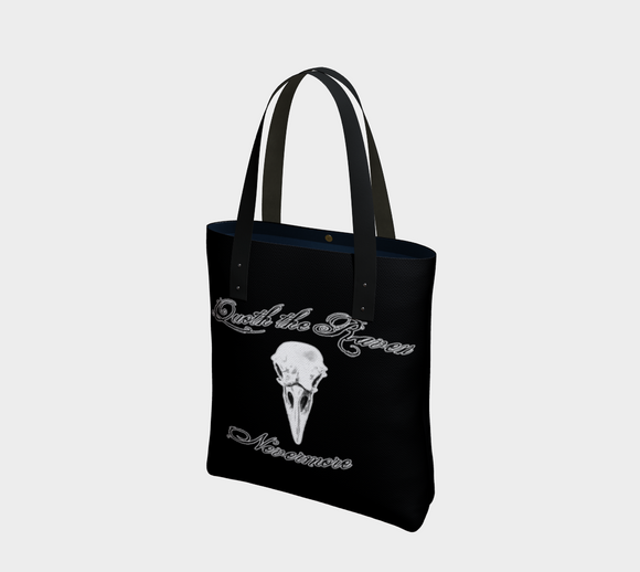 Raven Quote Gothic Art Tote Bag