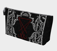 Ornate Silver Framed Lucifer Occult Makeup Bag