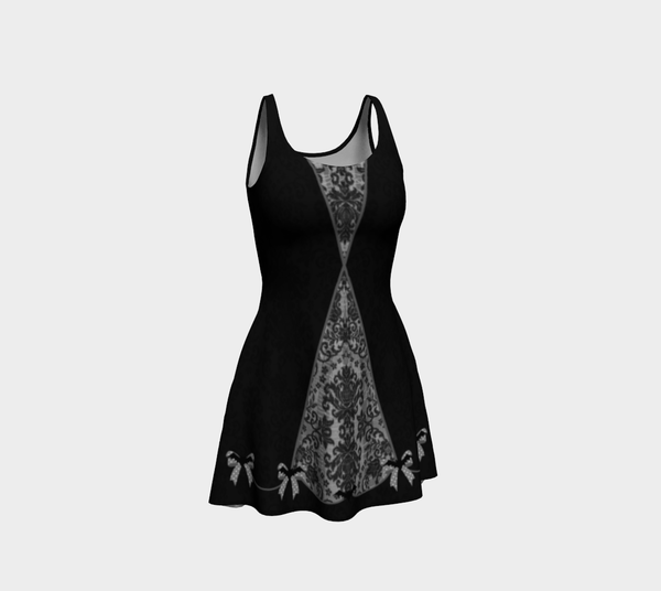 Bat Bow Gothic Damask Minidress