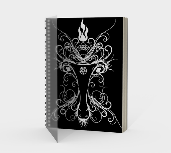 Baphomet Damask Occult Goth Notebook