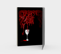Vampire Book of Shadows Spiral Notebook