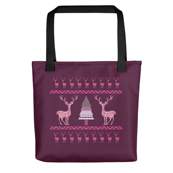 Glitter Deer Ugly Christmas Sweater Print Tote bag