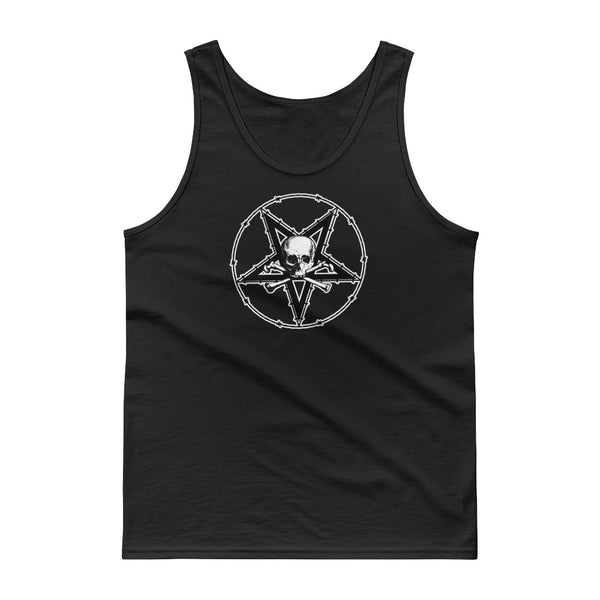 Barbed Wire Pentagram Skull Tank top