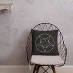 Barbed Wire Pentacle Occult Print Premium Pillow
