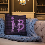 Ivy and Bat Limited Edition Plaid Throw Pillow