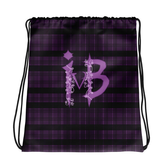 Ivy and Bat Limited Edition Plaid Drawstring bag