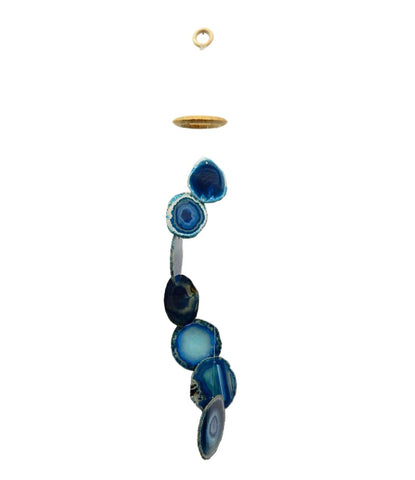 Teal Agate Wind Chimes (Brazil) *Limited*