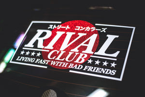 LIVING FAST WTIH BAD FRIENDS RISING SUN デカール