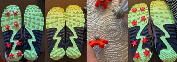advanced golfkicks mounting on soles with traction