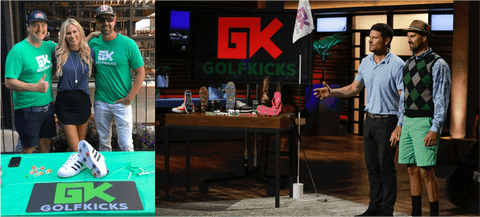golfkicks team denver startup week and shark tank stage