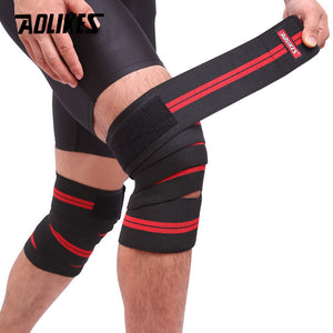AOLIKES 1PCS 2M*8CM Fitness Pressurized Straps Gym Weight Lifting Leg Knee Compression Training Wraps Elastic Bandages