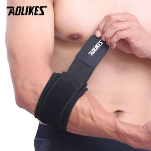AOLIKES 1PCS Adjustbale Tennis Elbow Support Guard Pads Golfer's Strap Elbow Lateral Pain Syndrome Epicondylitis Brace