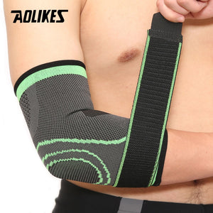 AOLIKES 1PCS Elastic Bandage Tennis Elbow Support Protector Basketball Running Volleyball Compression Adjustable Elbow Pad Brace