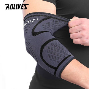 AOLIKES 1PCS Breathable Elbow Support Basketball Football Sports Safety Volleyball Elbow Pad Elastic Elbow Supporter