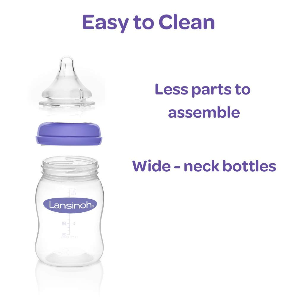 Breastfeeding Bottles with NaturalWave Nipple (5 oz)
