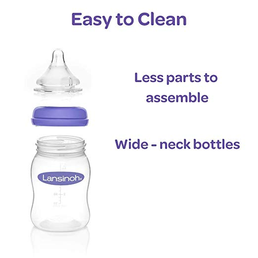 Breastfeeding Bottles with NaturalWave Nipple (8 oz)