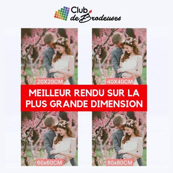 Couple de Chats Fluorescents - Kit Broderie Diamant - Club de Brodeuses
