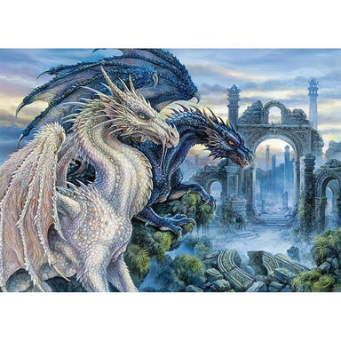 Couple de Dragons Mystiques - Kit Broderie Diamant - Artiste du Diamant - Diamond Painting