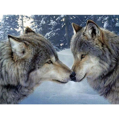 Couple de Loups Amoureux - Kit Broderie Diamant - Artiste du Diamant - Diamond Painting
