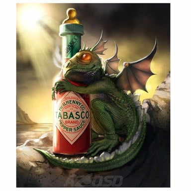 Dragon & Tabasco - Kit Broderie Diamant - Artiste du Diamant - Diamond Painting