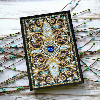 "Notebook ""Centre Azur"" en Broderie Diamant - Club de Brodeuses"