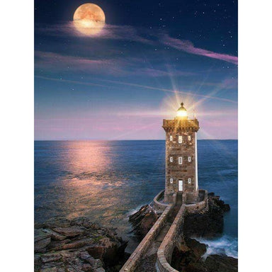 Phare & Lune Rencontre Nocturne - Kit Broderie Diamant - Club de Brodeuses