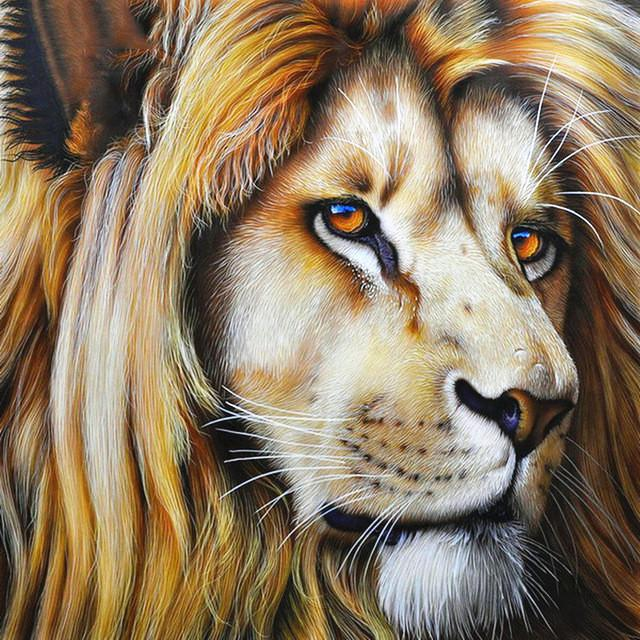Regard du Lion - Kit Broderie Diamant - Artiste du Diamant - Diamond Painting