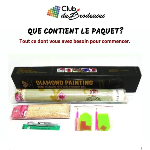 Roses d'Amour - Kit Broderie Diamant - Club de Brodeuses